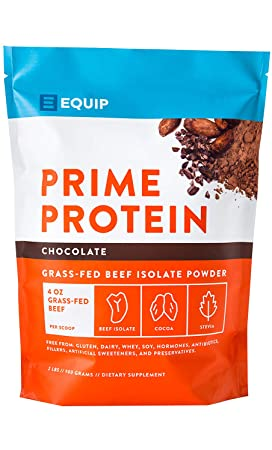 Chocolate Beef Paleo Protein Powder Keto Collagen Low Carb Ketogenic Diet Supplement Vital for Caveman Carnivore Nutrition of Ancient Source. Best as Gelatin Muscle Meat Proteins Drink. Equip Foods