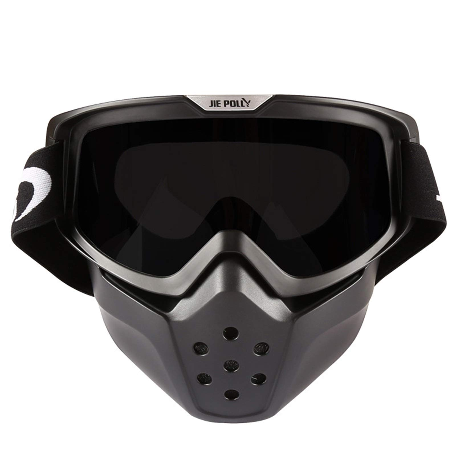 Adisaer Winter Sports Goggles Shark mask Off-Road Motorcycle Locomotive Sand-Proof Goggles Gray for Adults