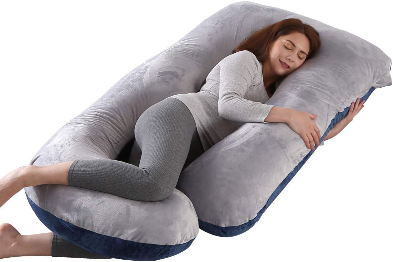 misura XXL 100/% Cotone Cuscino Allattamento e Cuscino Gravidanza per Dormire