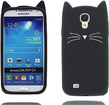 Samsung Galaxy S4 Carcasa, 3D Cartoon carácter TPU Flexible Protector Flexible Case funda para Samsung Galaxy S4 A prueba de choques (Galaxy S4 I9500, Negro 3D gato) : Amazon.es: Electrónica