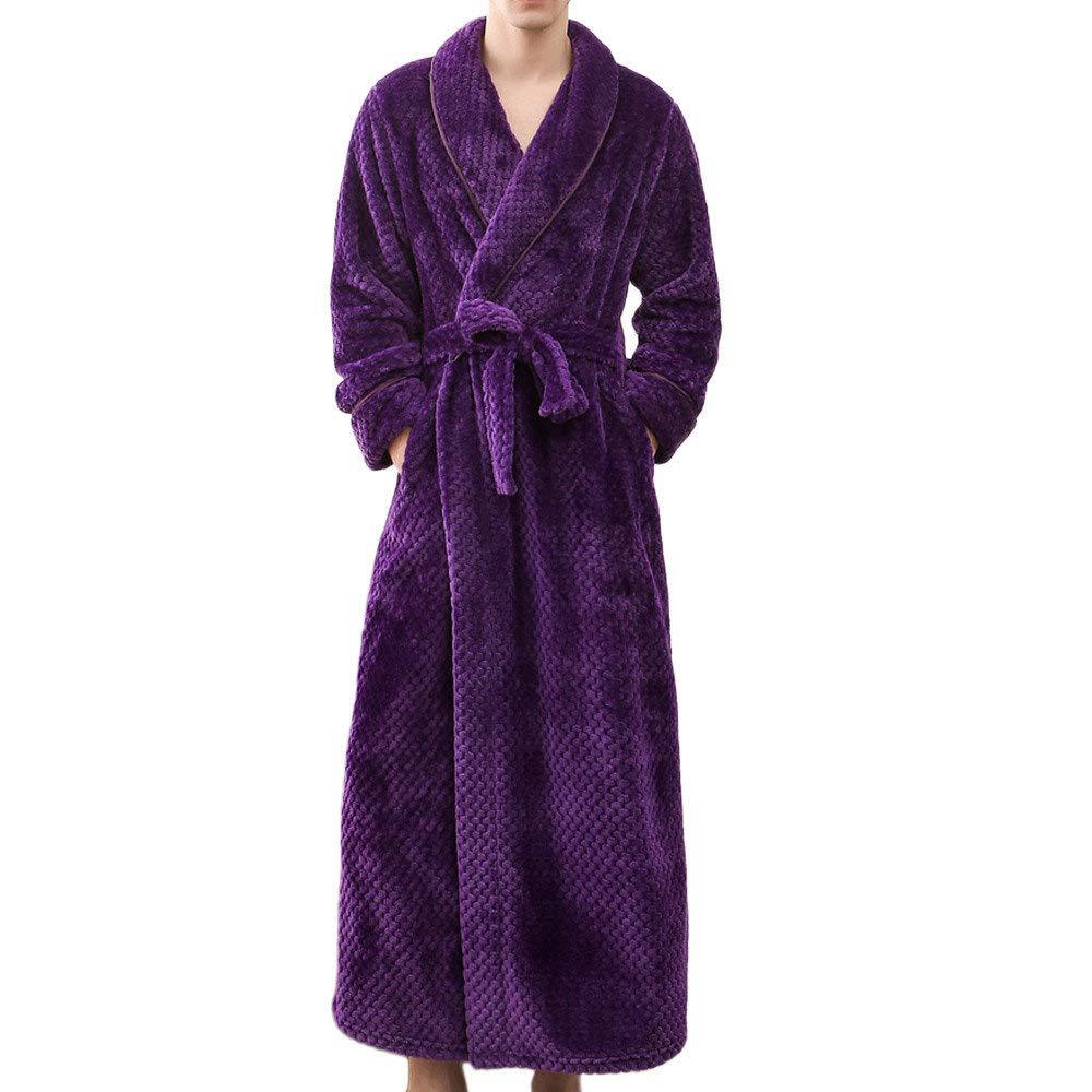 POLP Albornoz Hombre Mujer Parejas Unisex Casa Albornoz Mujer Ducha Bata de Baño Ropa de baño Pijamas de una Pieza Batas Albornoz para Hombre Súper Suave ...