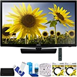 Samsung UN24H4000 24'' 720p HD Slim LED TV Clear Motion Rate 120 Plus Terk Cut-the-Cord HD Digital TV Tuner and Recorder 16GB Hook-Up Bundle