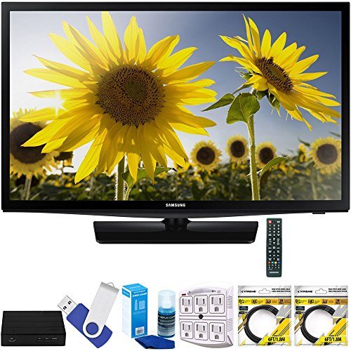Samsung UN24H4000 24'' 720p HD Slim LED TV Clear Motion Rate 120 Plus Terk Cut-the-Cord HD Digital TV Tuner and Recorder 16GB Hook-Up Bundle by Samsung