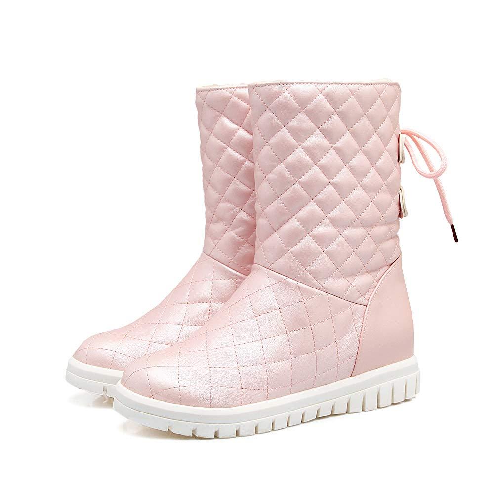 Damen Stiefel Woherren Flat Heel Warm Warm Warm Snow Stiefel e249fd