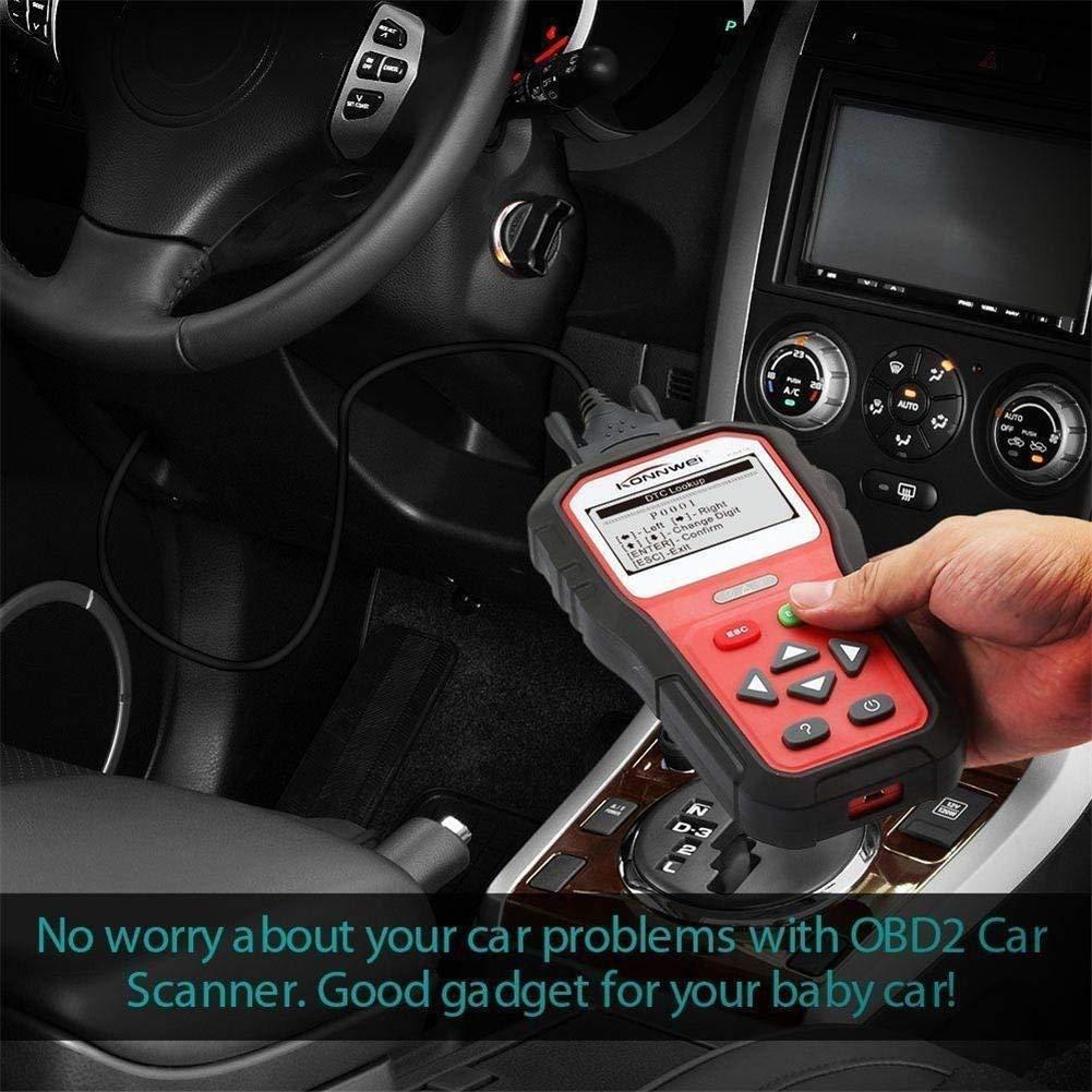 KONNWEI OBD2 Scanner Professional Car OBD II Scanner Auto Diagnostic Fault Code Reader Automotive Check Engine Light Diagnostic O2 Sensor EOBD Scan Tool for All OBDII Protocol Cars Since 1996 (KW818) by KONNWEI (Image #3)