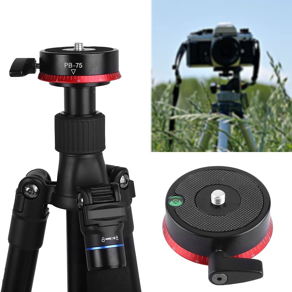 V BESTLIFE Aluminum Alloy 360 Panorama Tripod Head with Bubble Level and UNC 3//8Inch Screw