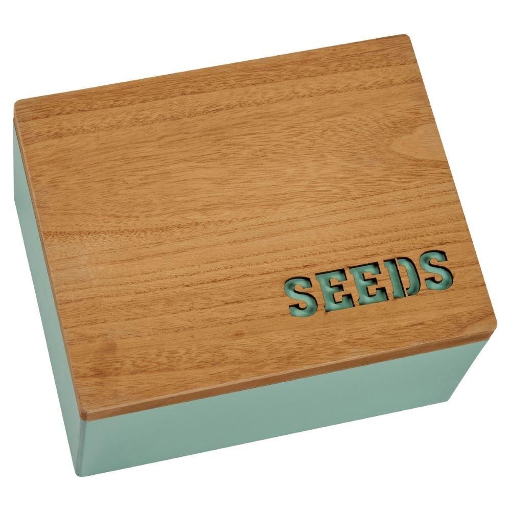 Transomnia Seeds Laser Cut Rustic Wooden Storage Box