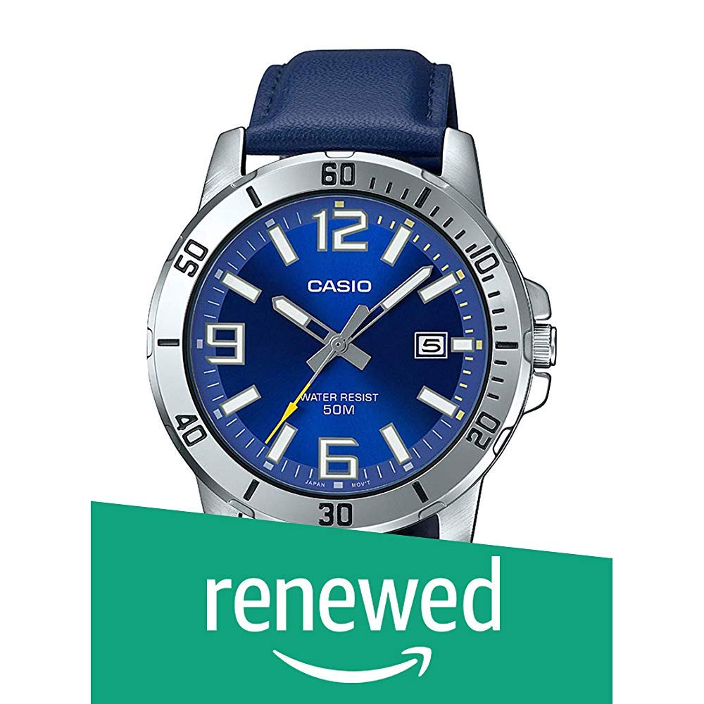 Amazon price history for (Renewed) Casio Analog Blue Dial Men's Watch-MTP-VD01L-2BVUDF (A1737)