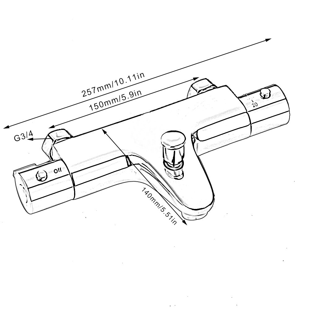 Miscelatore termostatico doccia da parete uscita basso in ottone chorm/é rotonda rubinetto miscelatore termostatico per bagno vasca da bagno