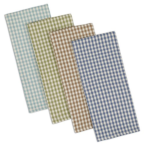 Plaid Dish Towel (DII Cotton Heavyweight Plaid Dish Towels Kitchen Gift, 18 x 28