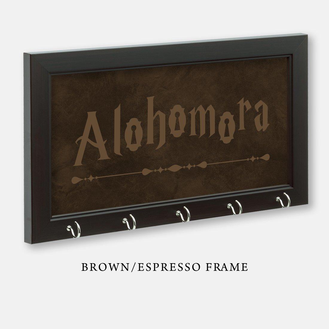 Harry Potter Inspired Alohomora Key Holder, Brown/Espresso Frame, 11-1/2