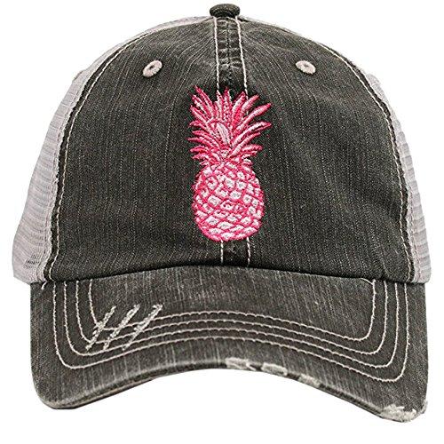 Katydid Embroidered Pineapple Women's Trucker Hats (Sister Womens Cap)
