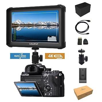 Black Lilliput A7s-2 7-inch 1920x1200 HD IPS Screen 500cd/m2 Camera Field  Monitor 4K HDMI Video DSLR Mirrorless Camera A7 A7S II A7R III A6500 GH5