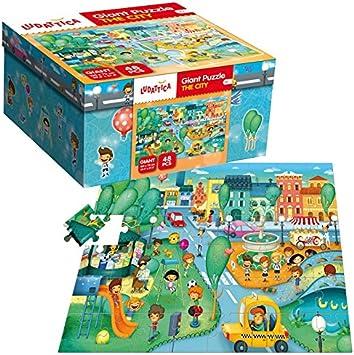 Ludattica Giant Puzzle The City: Amazon.es: Juguetes y juegos