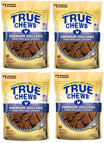 True Chews Dog Treats Premium Grillers Chicken Jerky 12oz Made in USA (4 Pack) by True Chews (Image #4)