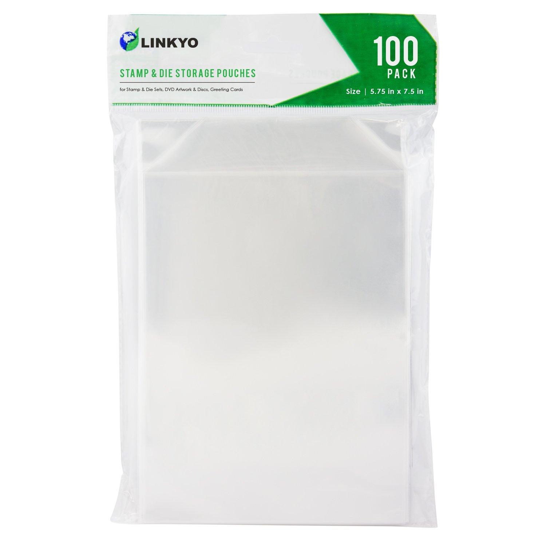 LINKYO Stamp and Die Storage Pockets, Set of 100, 5.75