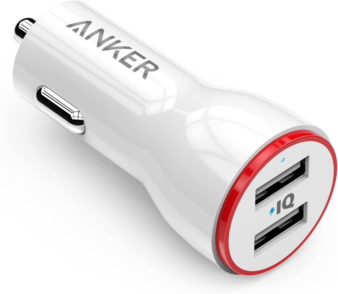 Anker 24W Dual USB Car Charger, PowerDrive 2 for iPhone X / 8/7 / 6s / Plus, iPad Pro/Air 2 / Mini, Note 5/4, LG, Nexus, HTC, and More