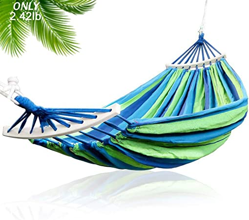 Hammocks Double 2 Person 330lbs Portable Compact Travel Camping Outdoor Cotton