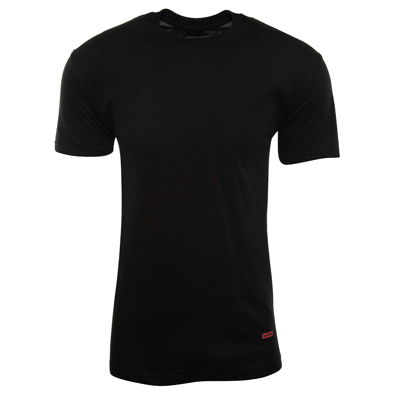 JWONG 2017 Supreme Hanes Tagless Tee Shirt Black SS17A23 Size XL