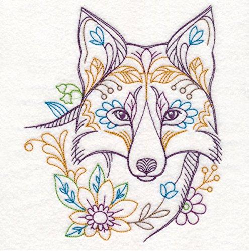 Wolf Custom Embroidered Sweatshirt Shirt by SewUnusuals