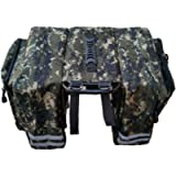 XUXN Camouflage Bike Panniers Bicycle Commuting Bag 25L Waterproof Saddle Bags for Bicycle Rear Rack Carrier