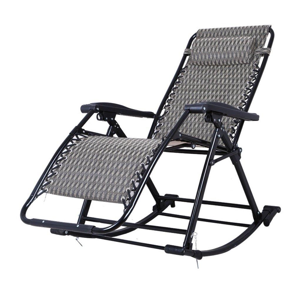 Faltender Schwingstuhl Mit Tragbarem Schwerelosigkeits-Stuhl Der Kopfstütze-im Freien Für Kampierenden Fischen-Strand Im Freien, 150kg, Schwarz