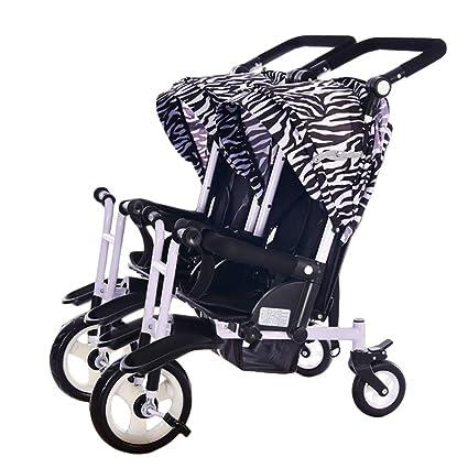 Amazon.com: Cochecito de bebé doble Cheurl para niños con ...