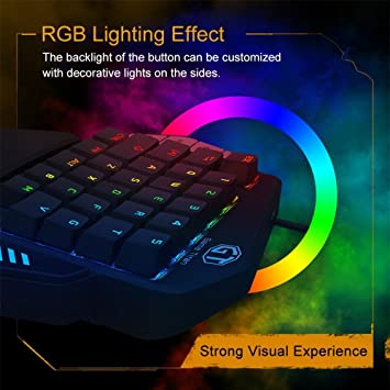 Amazon.com: Aulidtech Delux T9X Mechanical Gaming Keyboard One Hand Game Keypad Single Hand Game Keyboard RGB LED Backlit Chroma Ergonomic Rest Palm Full ...