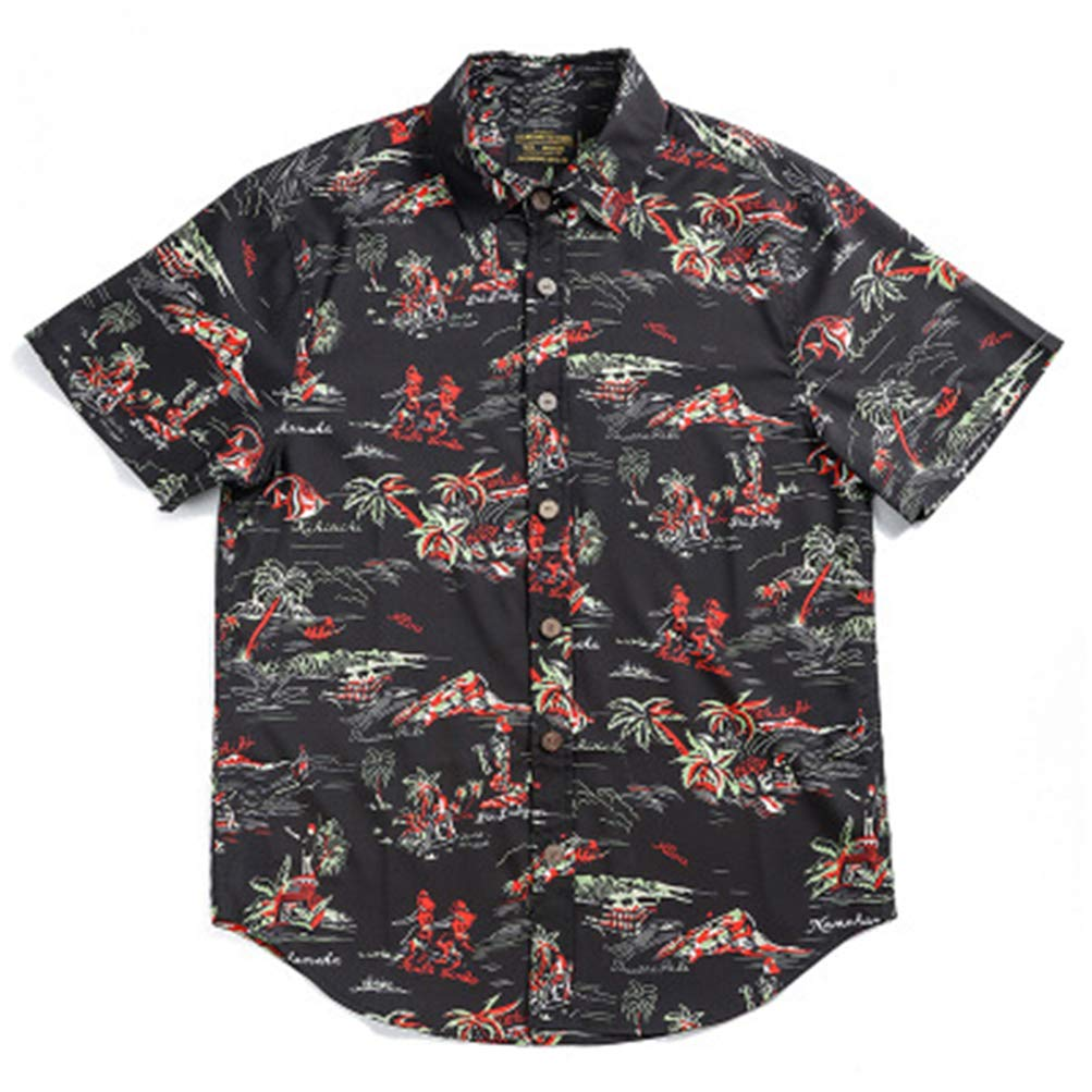 Attention Hawaiian Shirts for Men Short Sleeve Regular Fit Mens Shirts