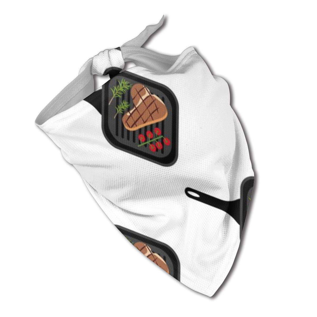 Amazon.com : Z-YY Steak On Grill Pan Bandana Pet Triangle ...
