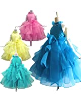 ドリーム企画 子供ドレス トリプルリボン付き子どもドレス パニエ内蔵 d-0062