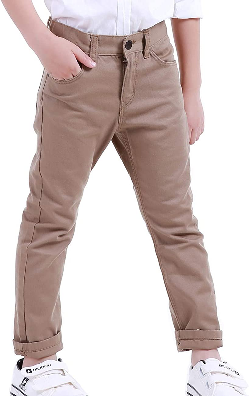 NABER Boys Fashion Adjustable Waist Husky Dress Trousers Suit Trousers Age 4-13 Years