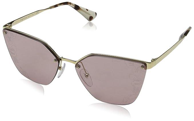Prada Damen Sonnenbrille 0PR53US SZ60A7, Grün (Pale Gold/Medium Havana/Green/Grey), 42