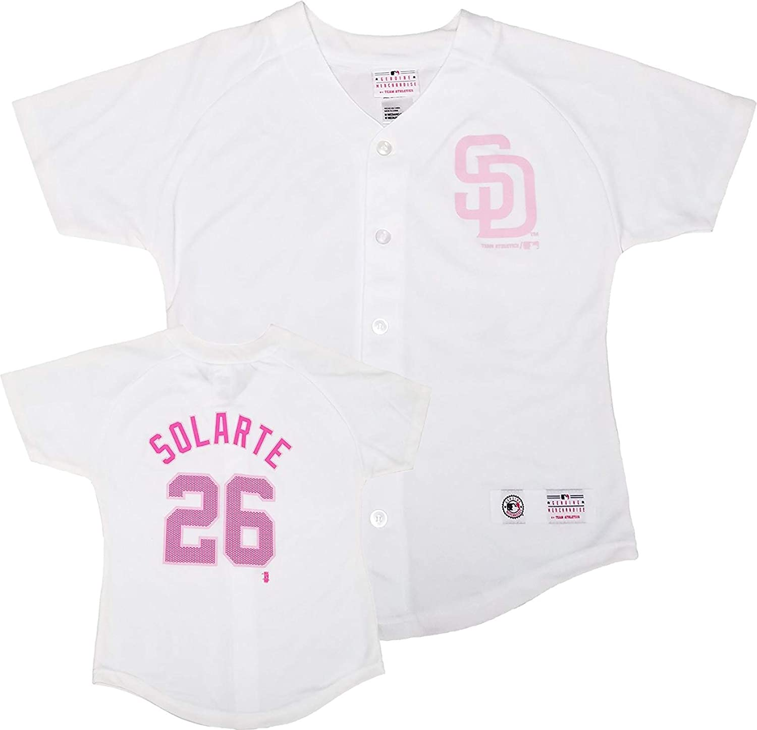 Yangervis Solarte San Diego Padres White Pink Girls Youth Player Fashion Jersey 61yH9ioG5yL