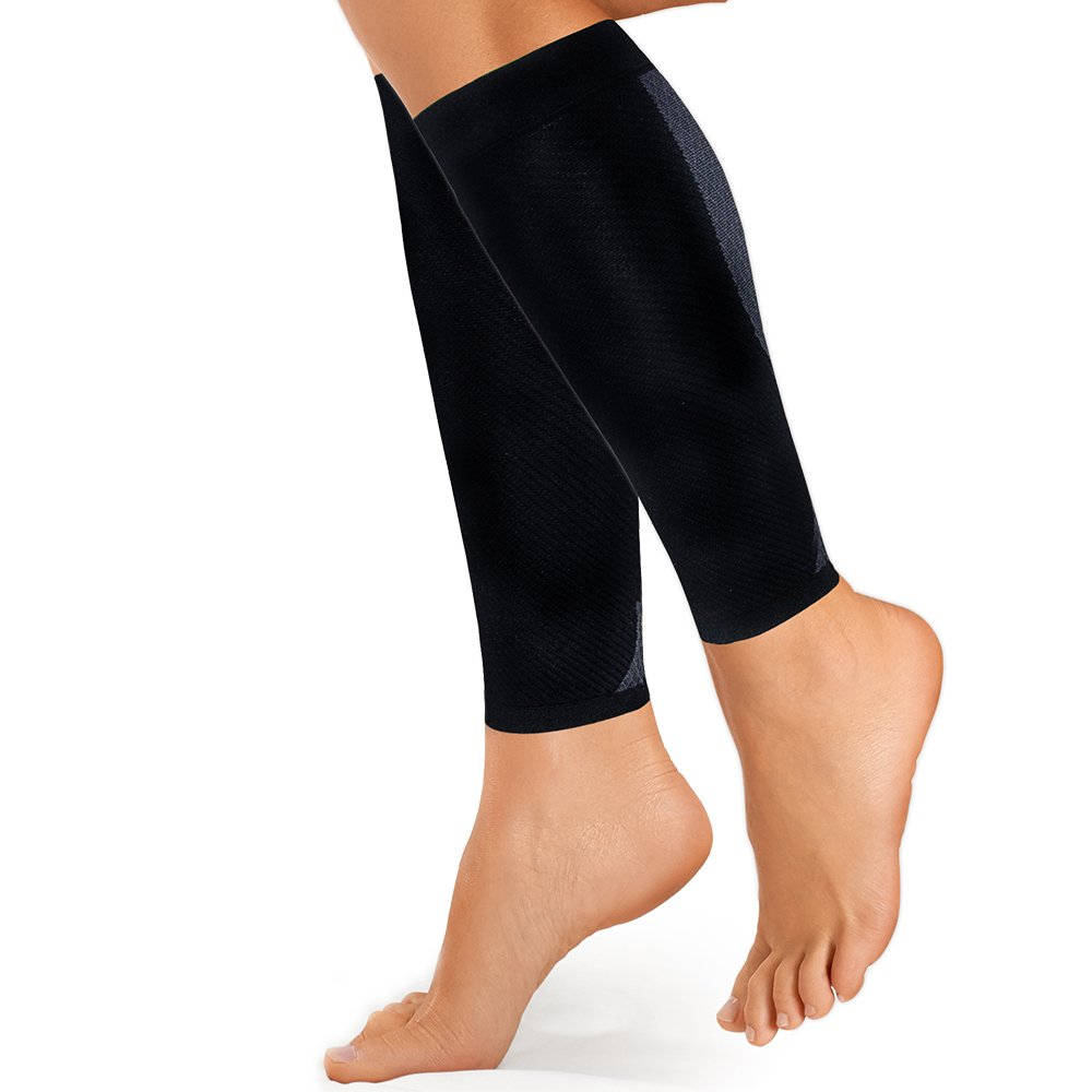 OrthoSleeve CS6 Compression Calf Sleeve, Black, Medium