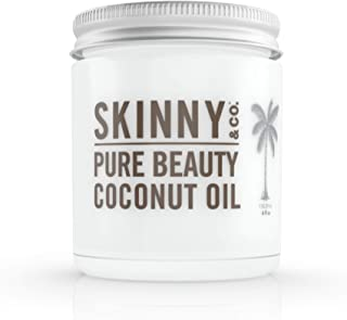 product image for SKINNY & CO. Pure Beauty Coconut Oil- 100% Raw NutraLock Coconut Oil, Moisturizes Hair, Skin & Nails, No Preservatives or Additives, Paraben Free, Sulfate Free, Latex Free, 100% Hypoallergenic, 4 oz.
