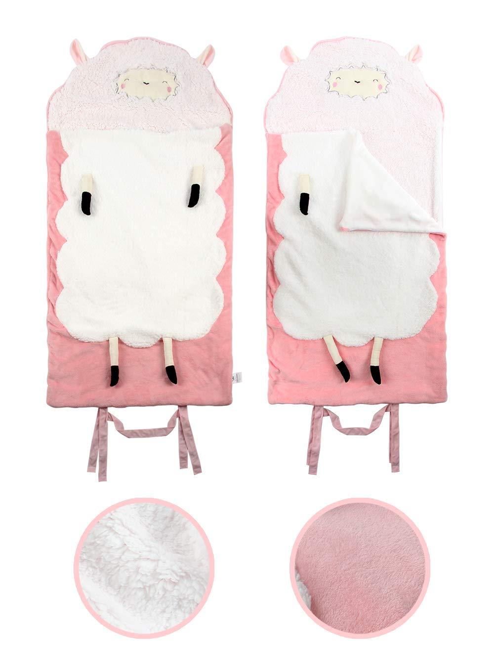 Warm Soft Cozy Baby Sherpa Sleep Sack Winthome Baby Winter Sleeping Bag Wrap Blanket 0-3 Years, PInk
