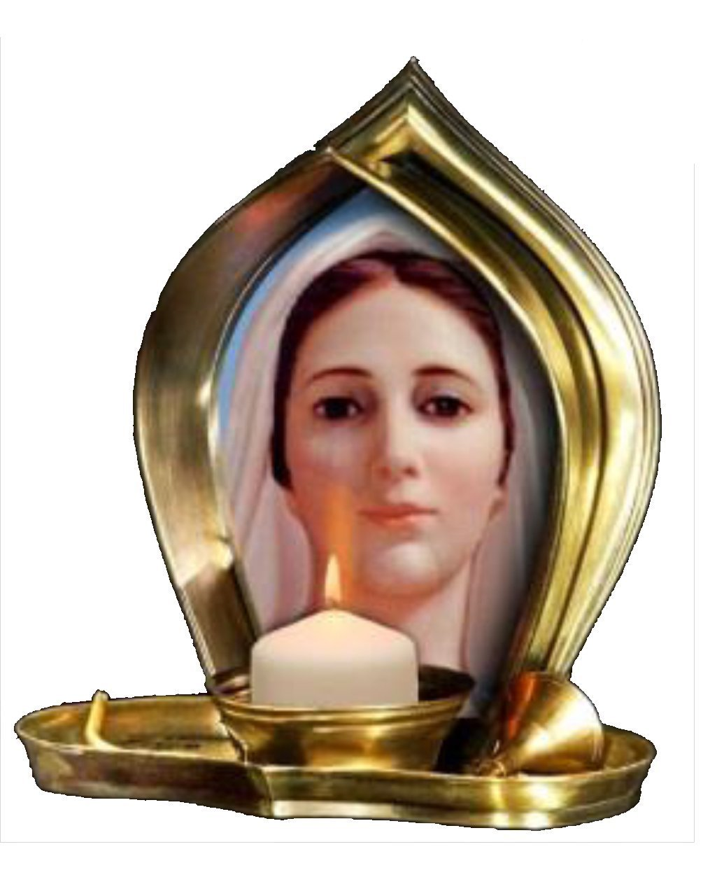 Candle Our Lady of Medjugorje - Religious Christian Light Collectible Candle Divine Light Our Lady of Medjugorje