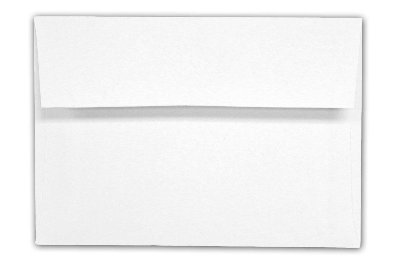 Envelope, A1 White 3 5/8'' x 5 1/8'' Square Flap - 100 Envelopes - Desktop Publishing Supplies™ Brand Envelopes