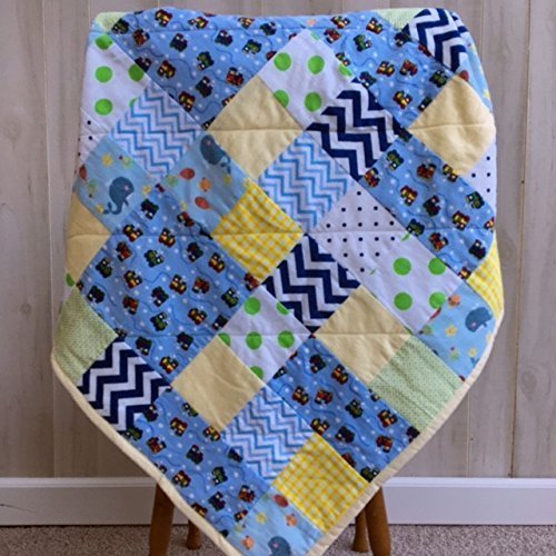 Baby Boy Quilt Newborn Boy Gift Quilted Blanket by The Best Seamstress