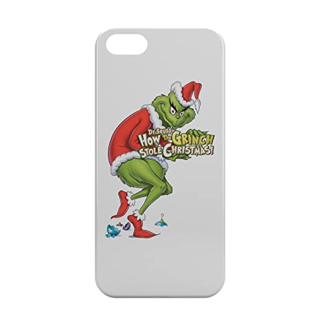 The Grinch Logo How Stole Christmas Full Body White New Design Iphone 5