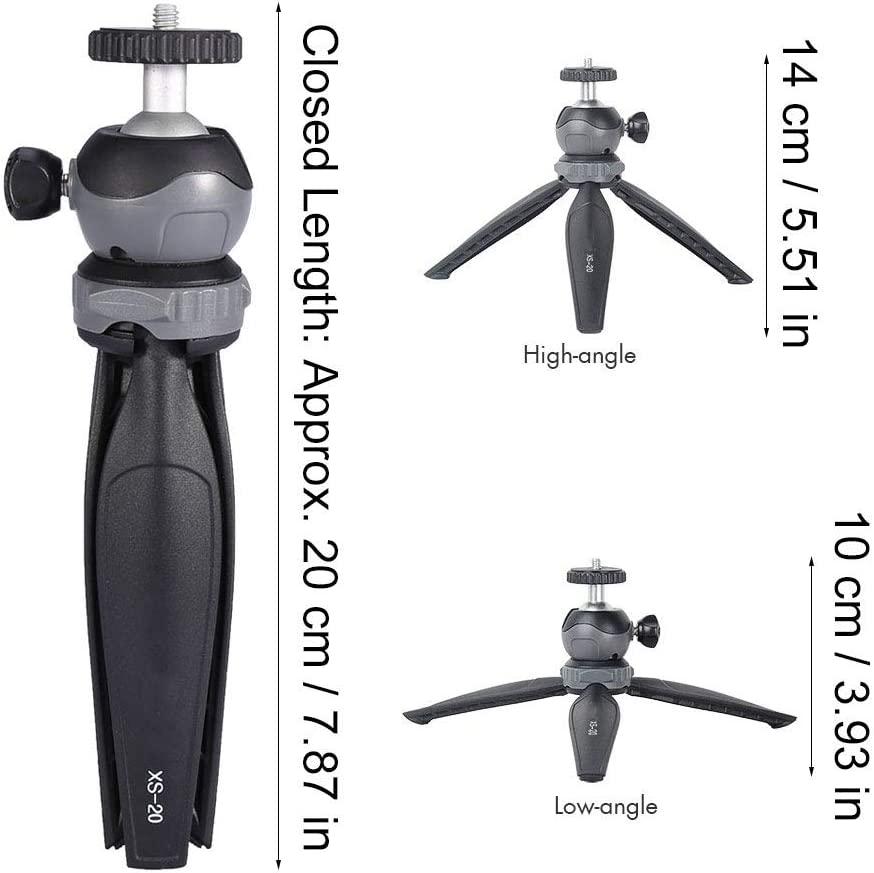 ABS Durable Mini Tabletop Anti-Slip Tripod with 360/° Rotation Detachable Ball Head for Phone//Digital Camera SoarUp Mini Tripod