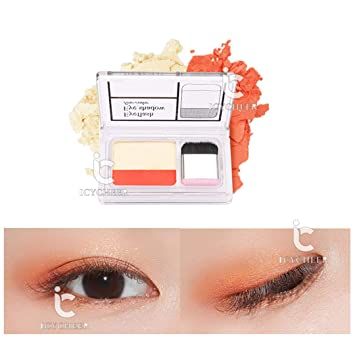Beauty & Health Icycheer Makeup Magazine Lazy Eyeshadow Stamp Holiday Edition Eye Shadow Double Color Shimmer Palette Long Lasting Natual Nude Eye Shadow