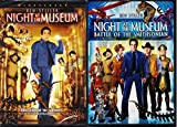 Night at the Museum + Battle of the Smithsonian DVD Set Family Animal T-Rex Fun Movies Part 1 & 2