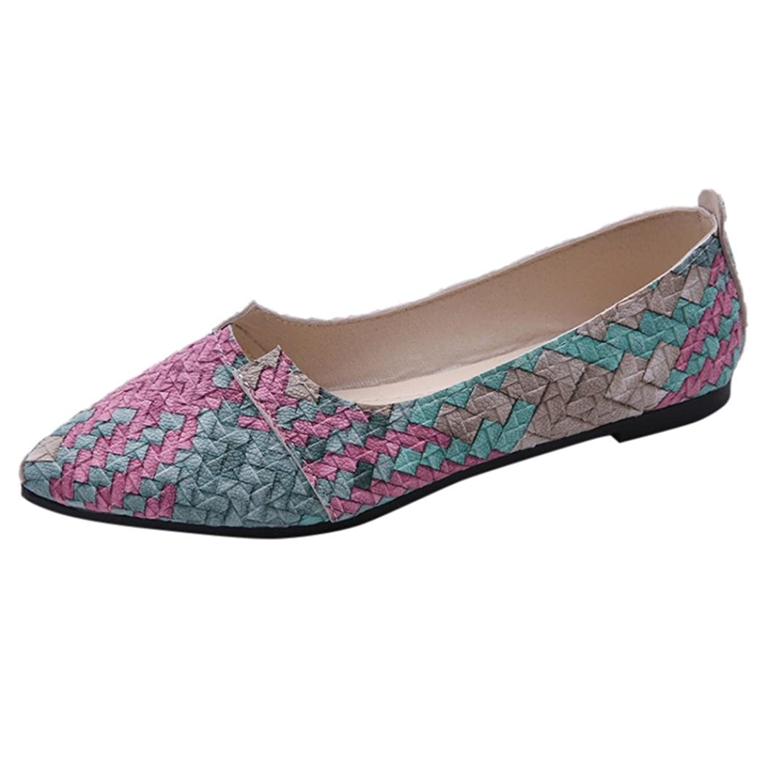 3d8ae491343 Sikye Women Flat Shoes Plaid Balle Slip on Casual Work Shopping Walking  Flats Loafers