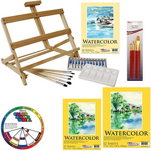 US Art Supply 31 Piece Watercolor