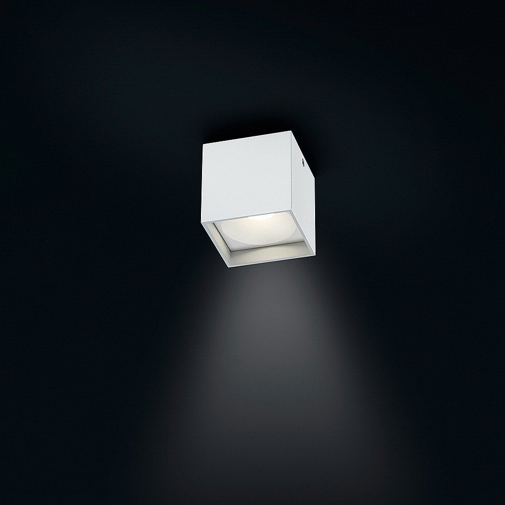 Helestra LED Downlight Dora 1 Mattweiß IP40   LEDs fest verbaut 4W 300lm warmweiß   15 1560.07