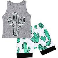 BOIZONTY Newborn Toddler Baby Boys Shark Print Tank Tops Short Pants Outfit Summer Two Piece Clothes Set