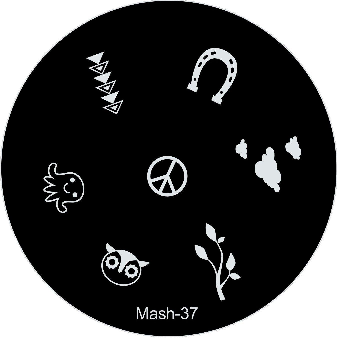 Amazon.com : MASH Nail Art Stamp Stamping Image Plate No 36 : Nail ...