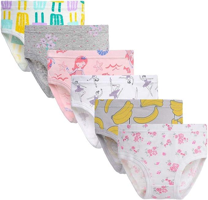 Garanimals Toddler Girls Floral//Stripe 6 Pack Cotton Briefs Size 2T-3T 4T-5T